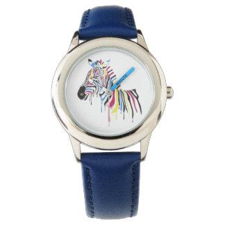 colorful zebra watch