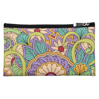 colorful zen pattern with sends them makeup bag