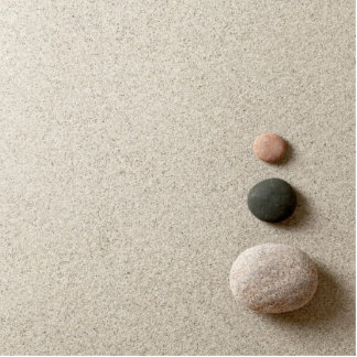 Colorful Zen Stones On Sand Background Standing Photo Sculpture