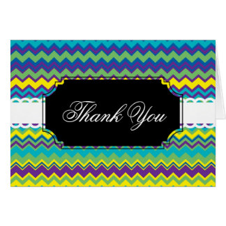 Colorful zig zag pattern card