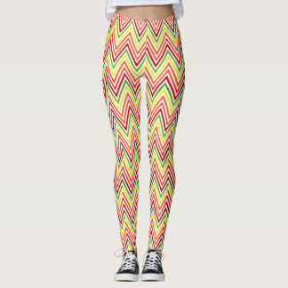 Colorful Zigzag Chevron Pattern Leggings