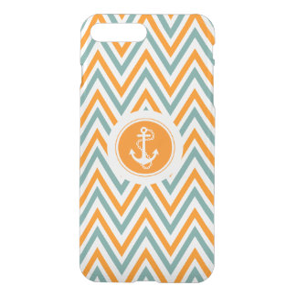 Colorful Zigzag Chevron With Nautical Anchor iPhone 7 Plus Case