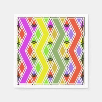 Colorful Zigzag Lines Paper Napkins