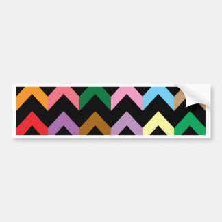 Colorful zigzag pattern bumper sticker