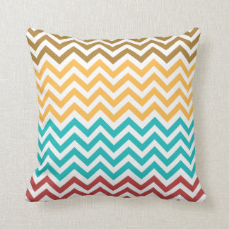 Colorful Zigzag Pattern Throw Pillow