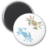 colorfulcrabs refrigerator magnet