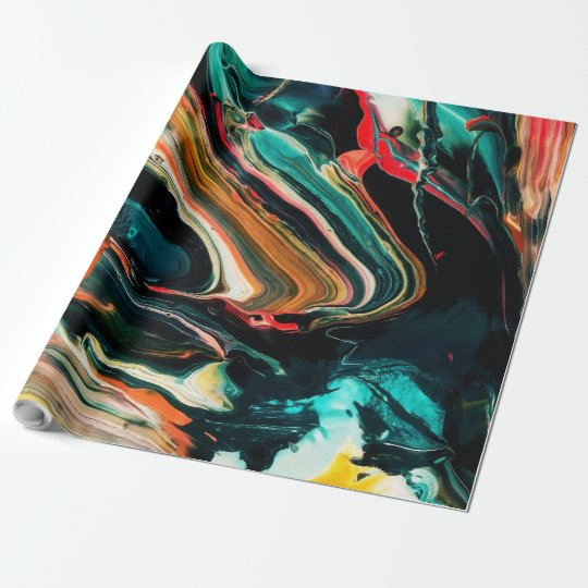ColorfulFunky Abstract Background Wrapping Paper