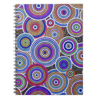 Colorfull Aboriginal Dot Art Pattern Notebook