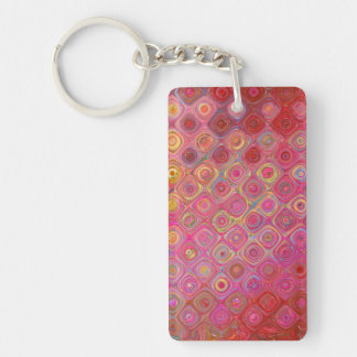 Colorfull Artistic Retro Pattern Keychain