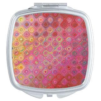 Colorfull Artistic Retro Pattern Mirror