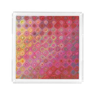 Colorfull Artistic Retro Pattern Tray