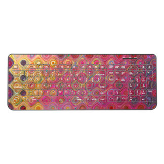 Colorfull Artistic Retro Pattern Wireless Keyboard