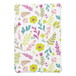 Colorfull flowers on white iPad mini case
