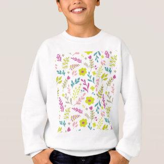 Colorfull flowers on white sweatshirt