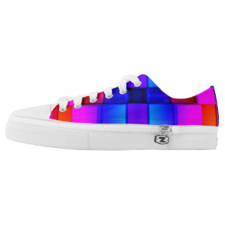 Colorfull Geometric Abstract Pattern Low-Top Sneakers