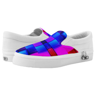 Colorfull Geometric Abstract Pattern Slip-On Sneakers