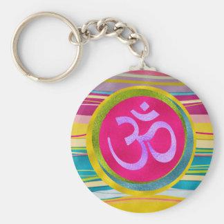 Colorfull Glitter OM symbol Keychain