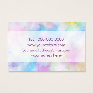 Colorfull Purple Simple Designed Bussines Card