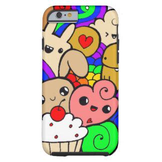 Colorfull raindbow doodle tough iPhone 6 case