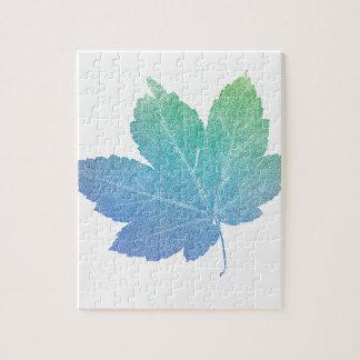 colorfull skeleton Leaf blue Puzzles