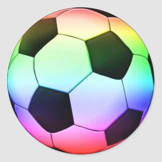Colorfull Soccer   Football Sport Round Sticker
