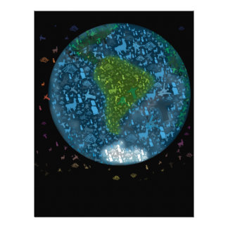 Colorfull South America Continent Personalized Letterhead