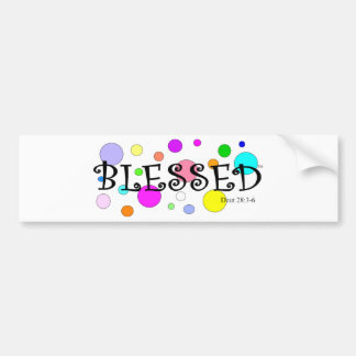 colorfully blessed bumper sticker
