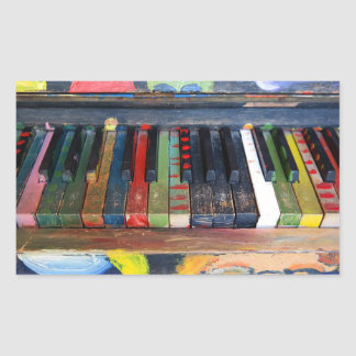 Colorfully Painted Piano Keys Sticker