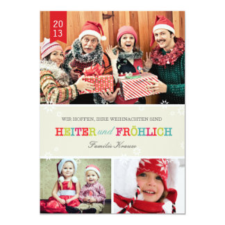 Colorfully photo Christmas card