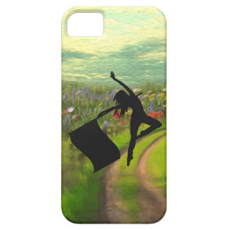 Colorguard Dancer Leaping with Flag iPhone 5 Covers