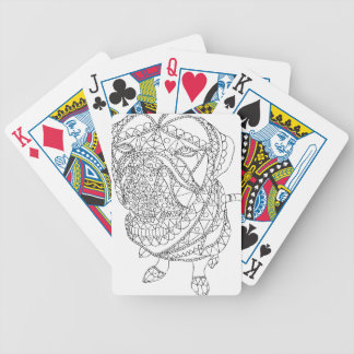 Coloring Book Dog Sitting Colorable Drawing Poker Deck