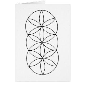 Coloring Geometric Card Design 1 5 x 7 & Envelope