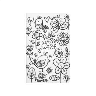 Coloring Journal, Garden Doodles Journal