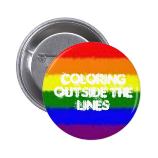 Coloring Outside the Lines 2 Inch Round Button