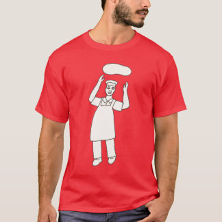 Coloring Shirt - Chef Tossing Pizza in Air