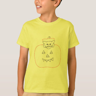 Coloring Shirts - cat, kitten in a pumpkin tshirts