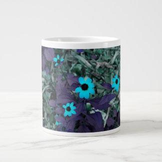 colorized blue flowers neat plant extra large mug