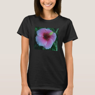 Colorized Hibiscus flower T-shirt