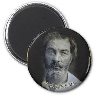 Colorized Walt Whitman Portrait 2 Inch Round Magnet