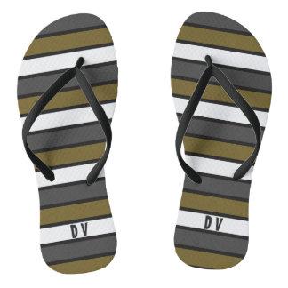 Colors adjustable stripes and template flip flops
