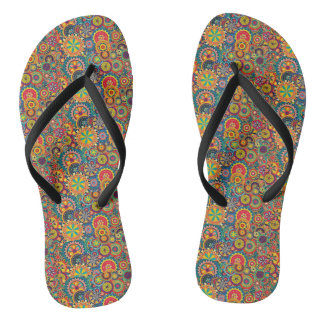 COLORS AND CIRCLES SLEEPERS FLIP FLOPS