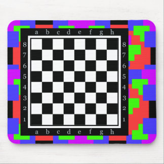 colors and shapes, classic chess table mouse pad