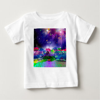 Colors and stars light up the night baby T-Shirt