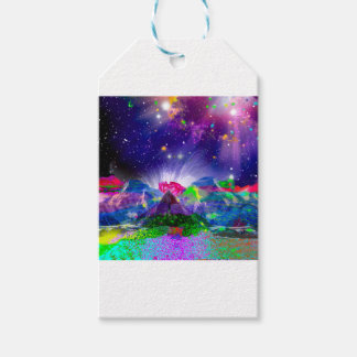 Colors and stars light up the night gift tags