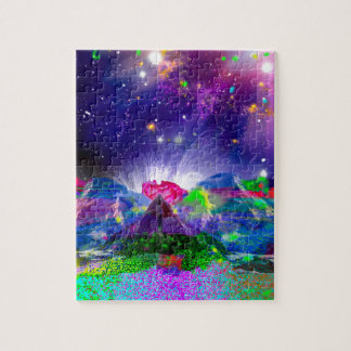 Colors and stars light up the night jigsaw puzzle