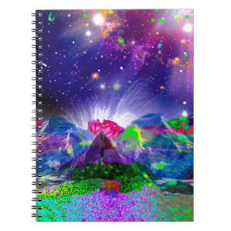 Colors and stars light up the night notebook