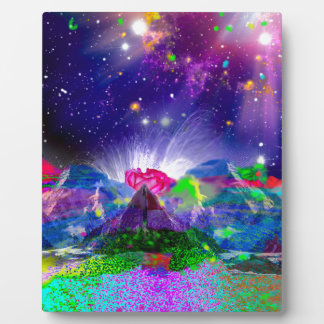 Colors and stars light up the night plaque