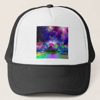 Colors and stars light up the night trucker hat