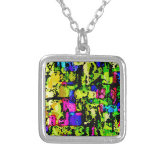 colors and vibes 3 silver plated necklace