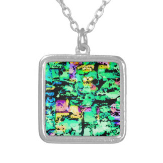 colors and vibes 4 silver plated necklace
